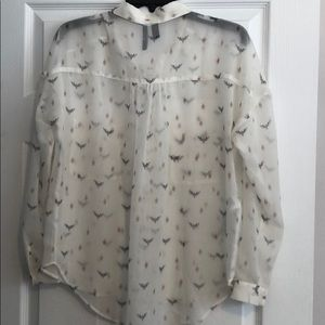 Tops - Long sleeve sheer button up